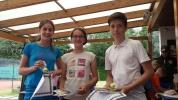 PSV Tenniscamp 2016 Siegerehrung Alina, Elisa, Luca