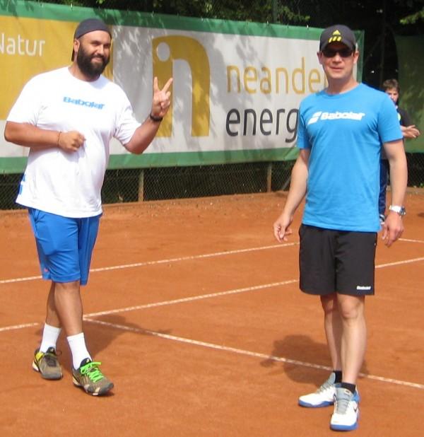 Trainer Fabio Bärtschiger und Patrik Reither